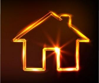 Vector Glare Small House Vector Art