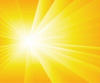 Vector Summer With Sun Burst Background Vector Art