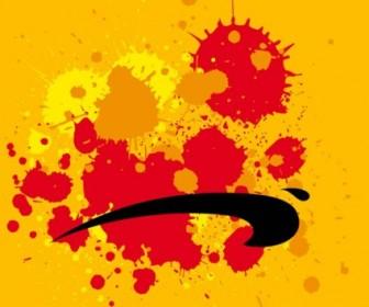Vector Grunge Paint Splatters Vector Art