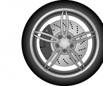 Vector Car Wheel Vector Clip Art