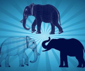 Vector Elephant Graphics Vector Art