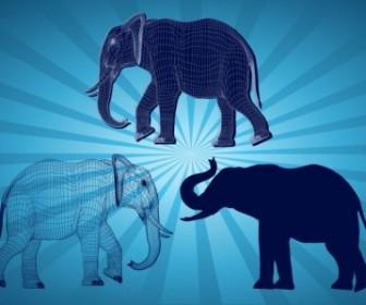 Vector Elephant Graphics Vector Art