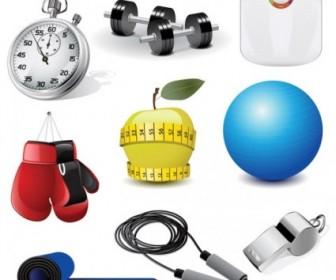 Vector Sports Equipment 02 Vector Art