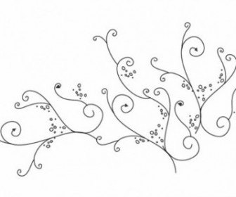 Vector Swirl Ornament Floral Vector Art