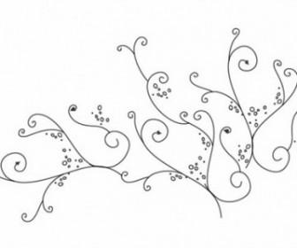 Vector Swirl Ornament Floral Vector Art