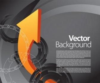 Vector Dynamic 3 Arrow Background Vector Art
