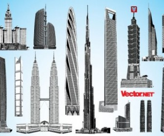 Vector Skyscraper Pack 2 Landscape Vector Graphics