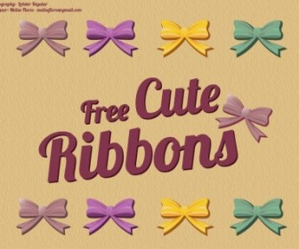 Vector Beautiful Ribbon Vector Art