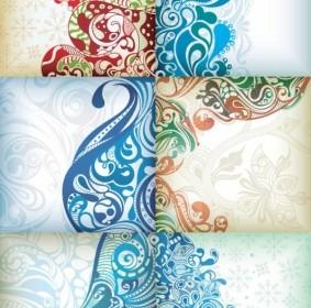 Vector Delicate Pattern Background Vector Art