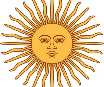 Vector May Sun From Argentina Flag Vector Clip Art