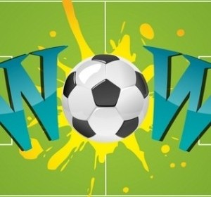 Vector Wow With Soccer Ball Vector Art