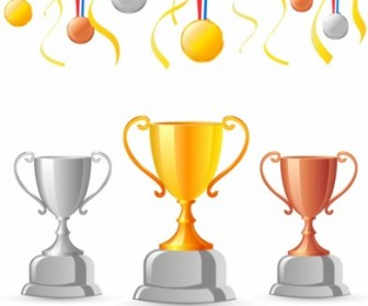 Vector Trophies And Medals Sport Vector Graphics