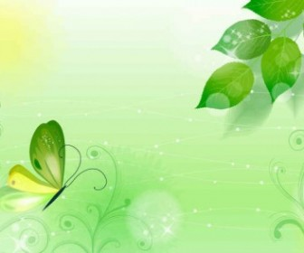 Vector Spring Green Illustration Background Vector Art