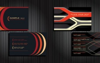 Vector 2 Business Cards Background Vector Art