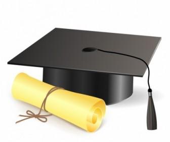 Vector Graduation Cap Vector Art