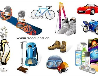 Vector Sports And Leisure Equipment Material2 Icon Vector Graphics