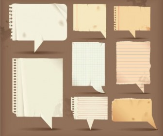 Vector Dialogue Bubble Paper 3 Vector Art