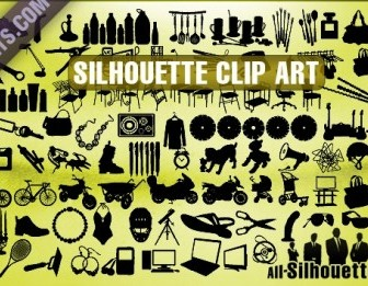 Vector Silhouette Clip Art Silhouettes Vector Graphics