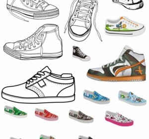 Vector Canvas Shoes Vector Art