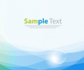 Vector Blue Smooth Wave Background Vector Art