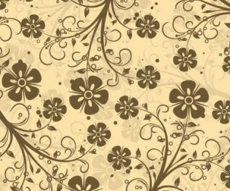 Vector Decorative Floral Pattern Background Vector Art