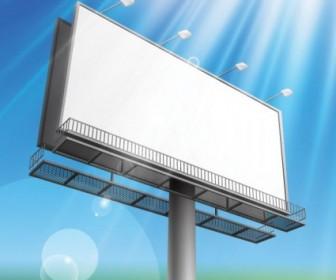 Vector Outdoor Advertising Billboard Model 04 Vector Art