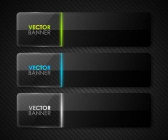 Vector The Black Cool Banner03vector Vector Banner