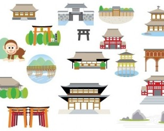 Vector Japanese Structure Vector Art