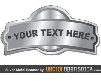 Vector Silver Metal Vector Banner