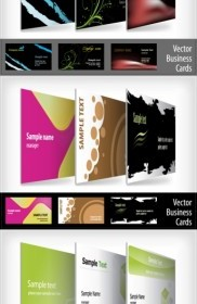 Vector 9 Beautifully Designed Card Templates Vector Art