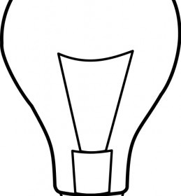Vector Ampoule / Light Bulb Vector Clip Art