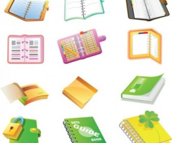 Vector School Supplies Cartoon Icon Vector Graphics