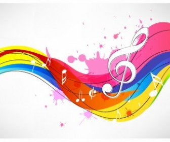 Vector Music Background Abstract Vector Graphics