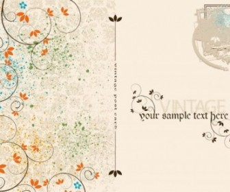 Vector Vintage Postcards And Stamps 02 Vector Art