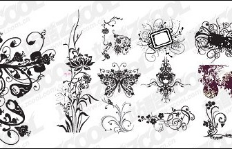Vector Practical Fashion Pattern Material Flower Vector Art