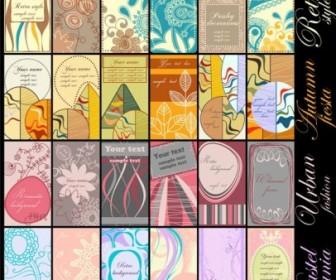 Vector Warm Alternative Card Pattern Vector Art