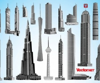 Vector Skyscraper Packs Vector Art
