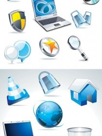 Vector Technologies Style Sense Of Crystal Icon Vector Graphics