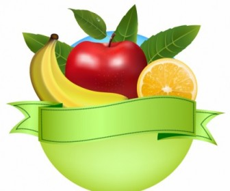 Vector Fresh Fruit Banner Vector Art