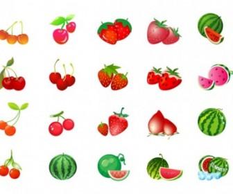 Vector Cherry Strawberry Watermelon Vector Art