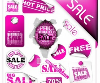 Vector Purple Discount Sales Vector Art