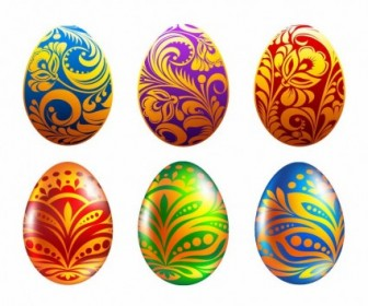 Vector Set Of Easter Eggs Illustration Vector Art