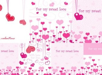 Vector Lovely Romantic Valentine Day Greeting Card Heart Vector Art