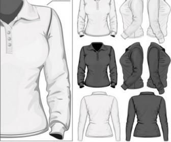 Vector Elegant Longsleeved Shirt Template 03 Vector Art