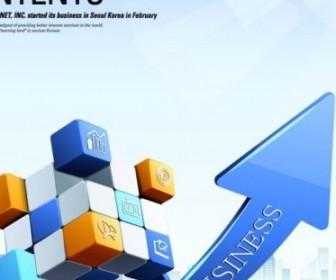 Vector Creative Cube Arrow 4 Business Posters Vector Art