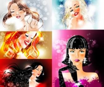 Vector Bright Stars Beauty Vector Art