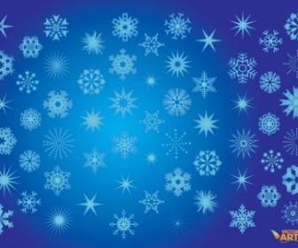Vector Snowflakes Vector Art
