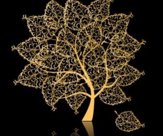 Vector Golden Trees Tree Plant Vector Graphics