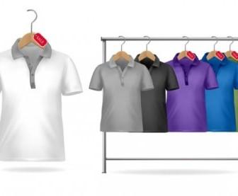 Vector Shortsleeve Tshirt Template 01 Vector Art