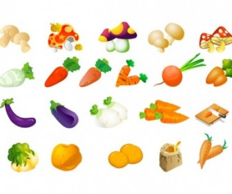 Vector Vegetable Of Three Vector Clip Art